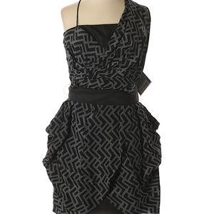Alexander McQueen Zig-Zag Asymmetrical Dress Sz 9